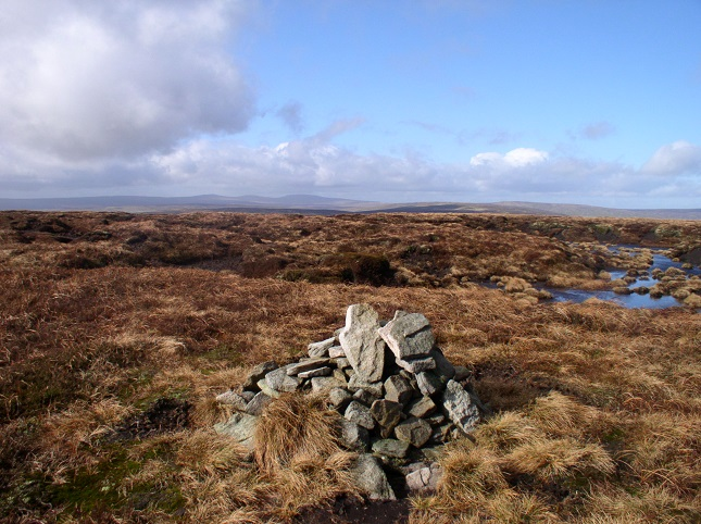 The view towards Cross Fell and Burnhope Seat from the largest cairn