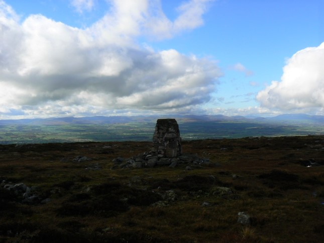 The view towards the Lake District from the trig point
