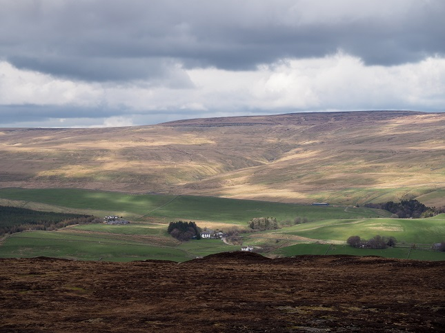 The view of Chapelfell Top from Cronkley Fell in upper Teesdale