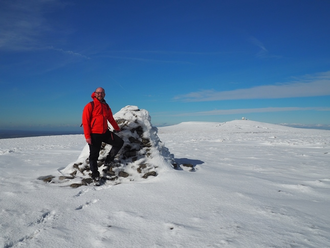 On the summit of Knock Fell