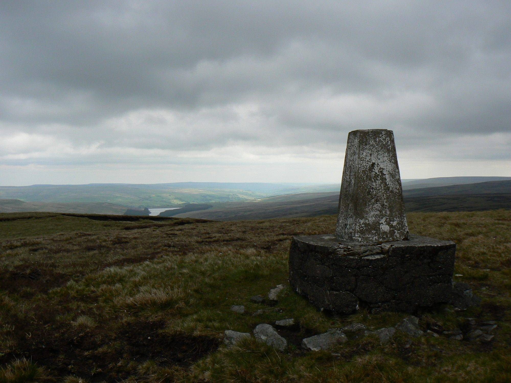 The trig point on Burnhope Seat