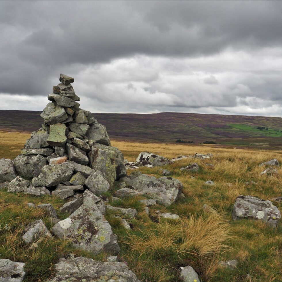 A cairn on Stanhope Common