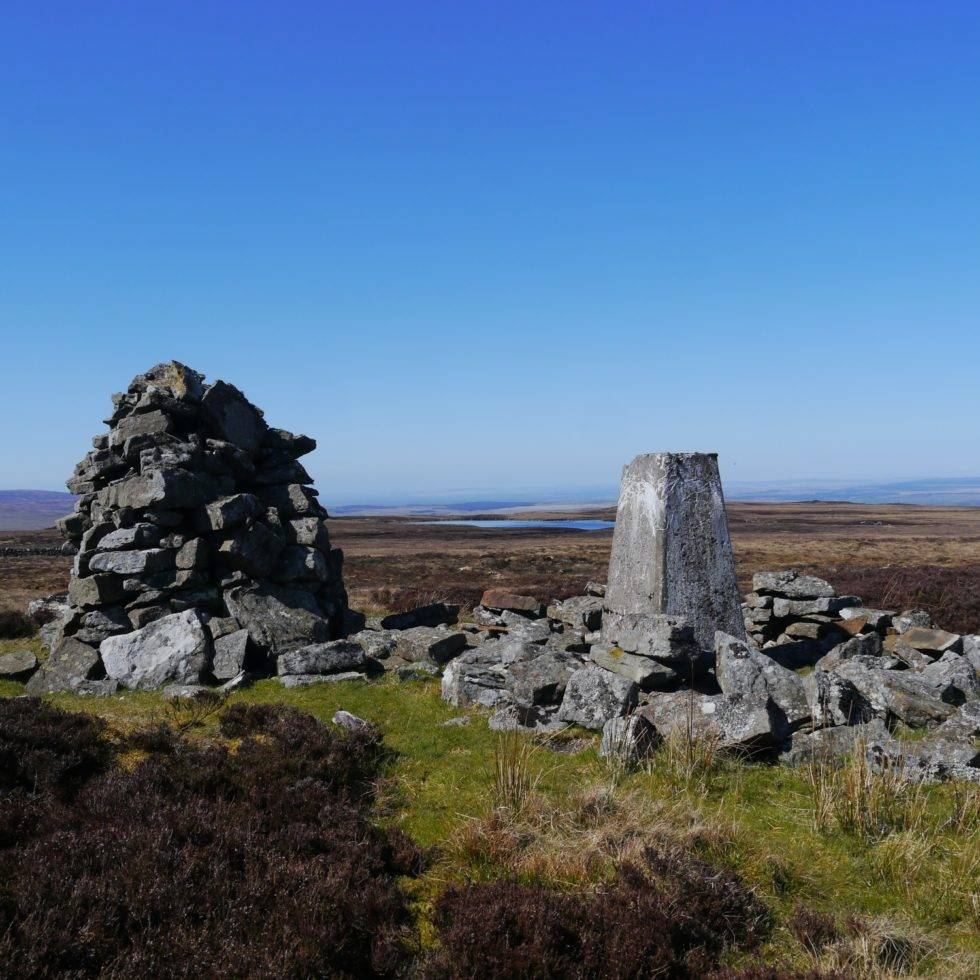 The summit of Pike Rigg