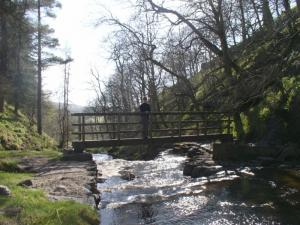 Lisa on Middle Ashgill Bridge