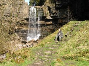 Posing below Ashgill Force