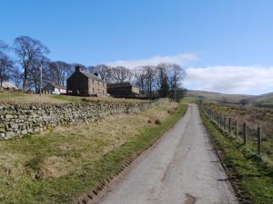 Passing Bow Hall on the Pennine Way