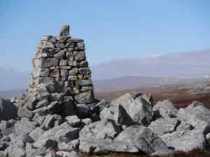 The well made cairn at 674m