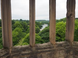 The River Tees from one of the towers of Barnard Castle