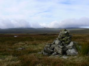 The cairn on the top of Bellbeaver Rigg