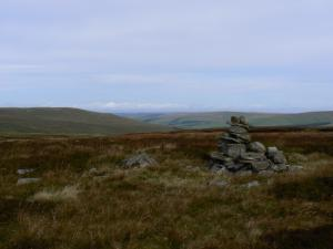 A glimpse of South Tynedale from Bellbeaver Rigg