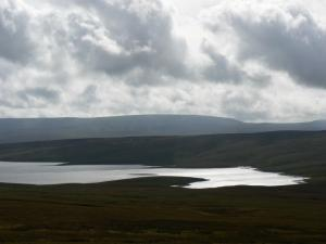 Cow Green Reservoir and Mickle Fell