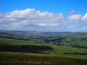 Upper Weardale from above New Close