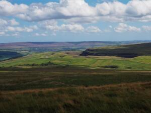 Looking down the valley across the top of Weardale Works towards Collier Law