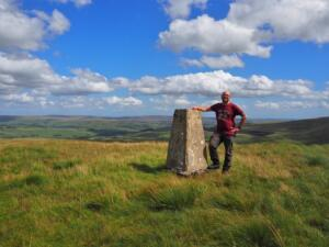 By the Black Hill trig point