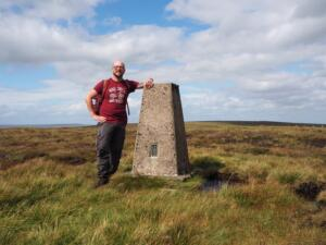 By the trig point on Fendrith Hill