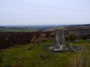 The trig point on the top of Hope Fell