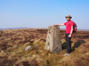 By the trig point on the top of Blotting Raise