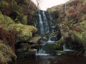 The second and largest waterfall on Bollihope Burn