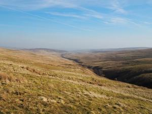 Looking back down the valley of Bollihope