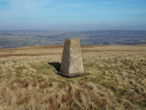 The Bollihope Carrs Trig Point