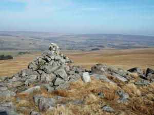 The cairn a hundred yards east of the trig point