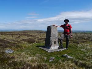 By the trig point on the top of Brownley Hill