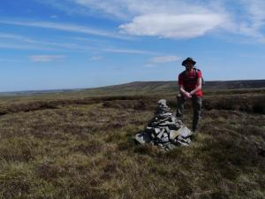 By the cairn on the top of The Dodd