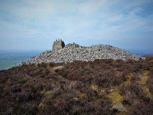 The huge bronze age burial cairn on Cardunneth Pike