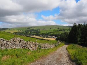 Looking back down to Garrigill from the Pennine Way