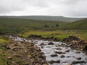 Following Black Burn with Cross Fell on the skyline