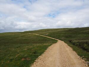 The Pennine Way as it contours below the top of Long Man Hill