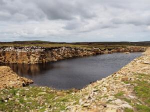 One of the quarry pools next to the Pennine Way