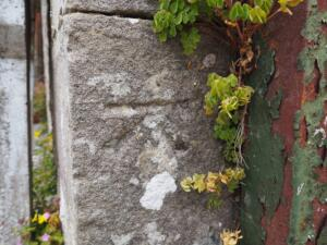 The Ordance Survey benchmark on the corner of the Methodist Church