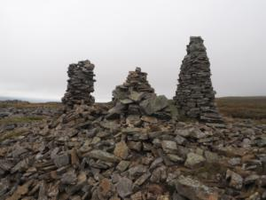 The prominent cairns at Church Bowers