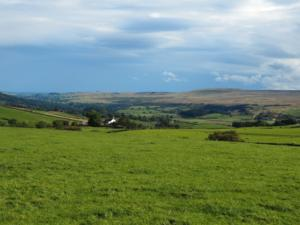 Harter Fell and Teesdale as the skies begin to clear
