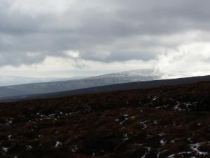 A distant view of Grey Nag before it was enveloped in the cloud