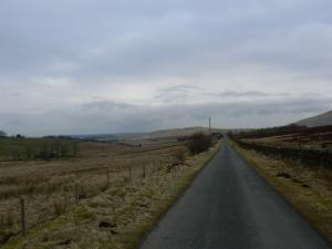 The straight road leading towards Forest Head