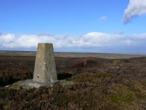 The trig point on Collier Law