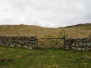 The gate on to High Knott