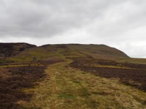 The path climbing Cronkley Fell