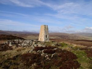 The Thistle Green trig point on Cronkley Fell