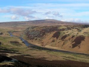 Meldon Hill and the River Tees