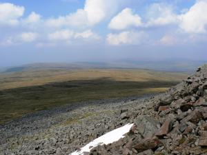 The view north from Cross Fell