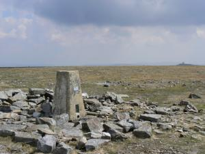 The trig point on the summit