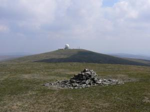 The top of Little Dun Fell looking towards the weather station on Great Dun Fell