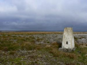 The trig point on Dry Rigg