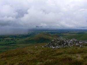 Knock Pike from the cairn on Brownber Hill