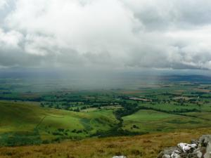 A rain shower over the Eden valley