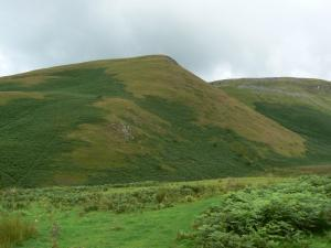 Looking back up at Brownber Hill