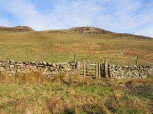 The stile where I left the bridleway to begin the climb on to Dufton Pike